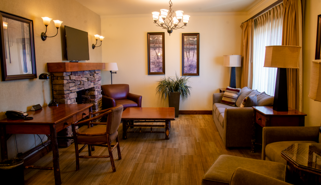 Feather Falls Presidential Suite Living Room